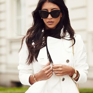 ☔️Ellen Tracy Water Repellent white trench jacket